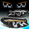 FOR 2011-2013 BMW F10 528I 535I LED HALO+ SEQUENTIAL SIGNAL PROJECTOR HEADLIGHT