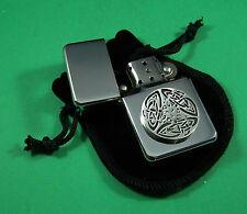 Celtic Pattern Petrol Lighter FREE UK POST Scottish Irish Welsh Celt