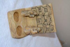 Vintage Stone Candle Holder/Mexico/Southwest,