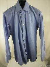 Men's medium BORRELLI Napoli blue shirt Made in ITALY Auction at $9.99