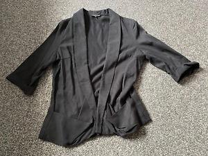 WAREHOUSE smart black jacket Size 14 - super soft VGC