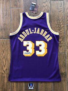 Kareem Abdul-Jabbar Signed Lakers Jersey Beckett Witness Authentication COA