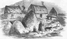 IRELAND. Scene in Derrynane Beg, antique print, 1846