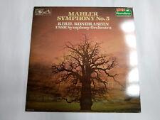 "Ed 29 01451 Mahler Symphony No. 5 in (environ 12.70 cm) C Sharp Minor 12"" vinyl LP 1984 VG +/EX"