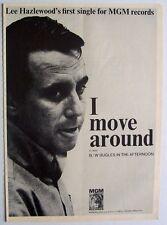 LEE HAZLEWOOD 1966 original POSTER ADVERT I MOVE AROUND