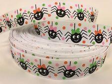 """BYY 7/8"""" Cute Spider Halloween Grosgrain Ribbon Scrapbooking Lisa"""