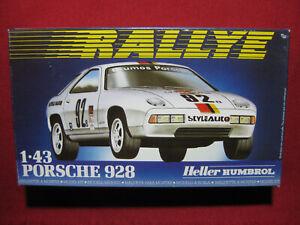 Porsche 928 1:43 Heller Plastic Model Kit Car Humbrol Rally Rallye Vintage