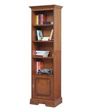 Bibliothèque colonne en bois - Bureau et salon - Meuble rangement sauve-espace