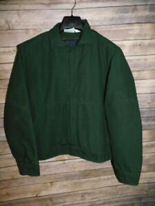 Industrial Garment M Spruce Green Nomex Jacket Quilted Zip In Lining Snap Coat