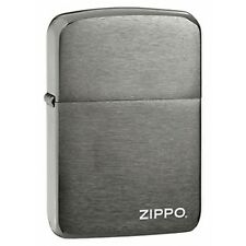 Zippo Logo 1941 Replica Black Ice Windproof Lighter