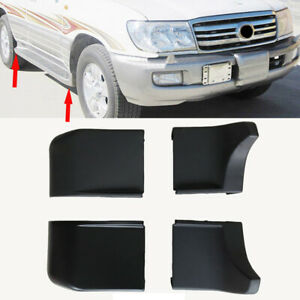 4x For Toyota Land Cruiser LC100 1998-2007 Car Side Pedal Black ABS Corner Cover