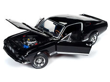 1967 FORD MUSTANG SHELBY GT350 BLACK MCACN 1/18 DIECAST MODEL AUTOWORLD AMM1202