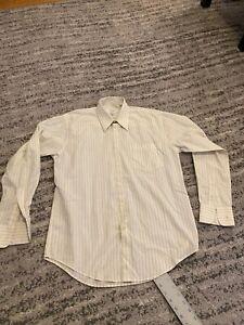 Saint Laurent men Dress Shirt, Off White, 15 1/2 34/35