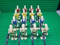 Custom Lego Star Wars Minifigures Mixed Color Battle Droid Lot of 16 + Blasters
