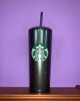 2020 Starbucks Holiday 16oz Tumbler Blue Green Sparkle Stainless Steel