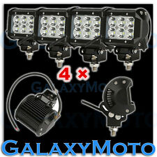 "4pcs 4"" Cree White 6 LED 18w Flood Beam Adjustable Off Road Roof/Work Light bar"