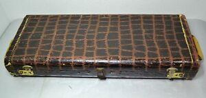 Vintage Croc Aligator Print Bassoon Hard Case