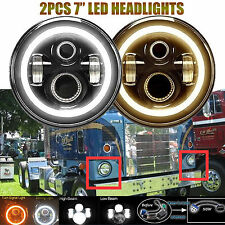 """7"""" LED Headlight Lamps For Kenworth T2000 T-2000 1998-2010 Tractor Trailer Truck"""