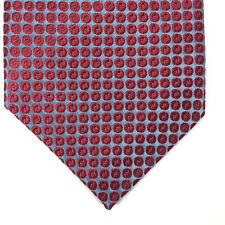 Forsyth of Canada Neck Tie Finest Silk Hand Sewn Blue Red Dots Circles Classic