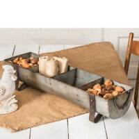 Country new large divided Tin decor Chicken Feeder
