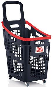 Araven 4 Wheel Plastic Shopping Trolley Basket 65L Extra Large