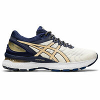 ASICS 1012A807 100 GEL NIMBUS 22 White Champagne Women's Running Shoes
