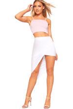 Gonne e minigonne da donna asimmetrici bianchi casual