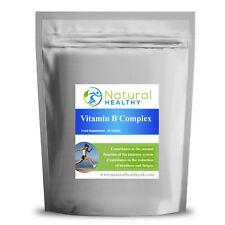 Vitaminas del complejo B 30 Pastillas (B1 B2 B5 B6 B12 niacina ácido fólico Biotina) UK Made