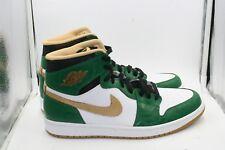 Air Jordan 1 Retro High OG Sz 11 Clover Green Metallic Gold White Black Celtics