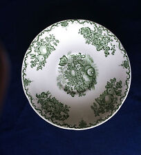 Masons Fruit Basket (green) large deep saucer (for breakfast cup ? ) -scratches