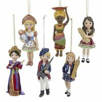 Kurt Adler Christmas International Girl Ornaments France Russia Thailand England