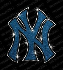 MLB:  New York Yankees - Bling  -Iron-On  Glitter Vinyl & Rhinestone Transfer