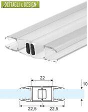 2,20 mt - Guarnizione box doccia trasparente magnetica vetro 10mm (Coppia)