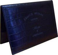 Authentic Franck Muller Black Leather Wallet Warranty Certificate Holder