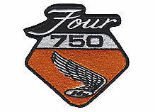 Honda 750 four embroidered cloth patch.     B010405
