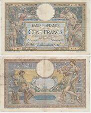 Gertbrolen Rare 100 FRANCS( LUC OLIVIER MERSON )  du 7-10-1908   Y.468 avec LOM