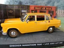 1/43 Checker Marathon Taxi James  Bond LIVE AND LET DIE 007 series  diorama