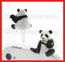 1pc Japan popin cute panda eating bamboo Cell Phone Anti Dust Earphone Plug Cap