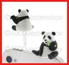 1pc Japan popin cute panda eating bamboo Cell Phone Anti Dust Earphone Plug Cap