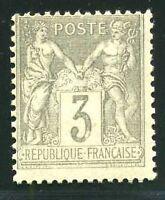"FRANCE N° 87  "" TYPE SAGE 3 c GRIS  "" NEUF XX TB."