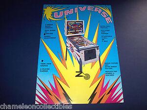 UNIVERSE By ZACCARIA 1977 EM ORIGINAL PINBALL MACHINE SALES FLYER BROCHURE