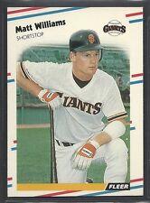 1988 Fleer Baseball - Rookie - #101 - Matt Williams - San Francisco Giants