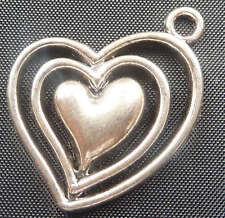 free ship 20pcs tibet silver heart Charms 25x24mm