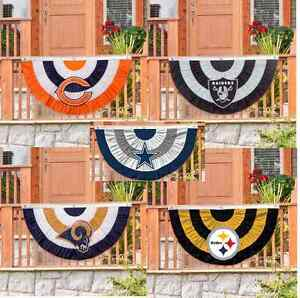 Officially Licensed Team Bunting House Flag Indoor and Outdoor Evergreen