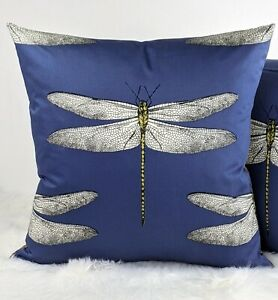 "Harlequin ""DEMOISELLE"" Handmade Cushion Cover GOLD FAUX SILK on Reverse"