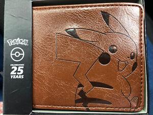 Pokemon - 25th Anniversary Pikachu Genuine Leather Bi-Fold Wallet
