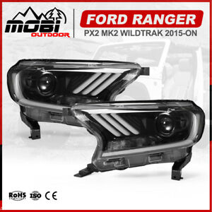 Headlights Projector For Ford Ranger PX2 Everest 2015-ON HID Main Bulb