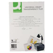 Q-Connect Universal Inkject Clear Printer Acetate Film OHP Sheets 50 X A4