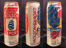 MOLSON EXPORT BIERE ALE DU CARACTERE - 710ML PULL TAB CAN - MONTREAL QUEBEC
