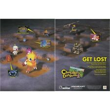 Chocobo's Dungeon 2 Final Fantasy PS1 PlayStation videogame two-page magazine ad